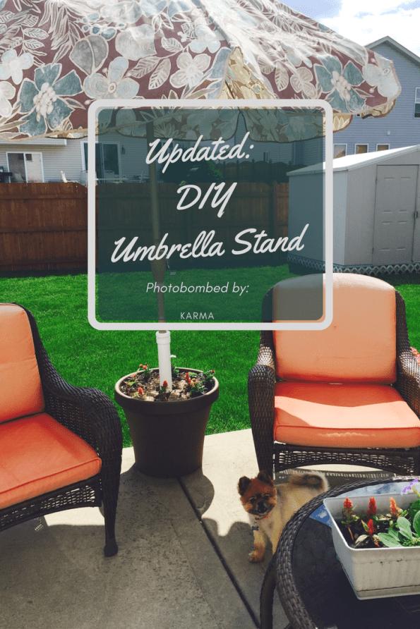 Updated: Simple DIY Umbrella Stand