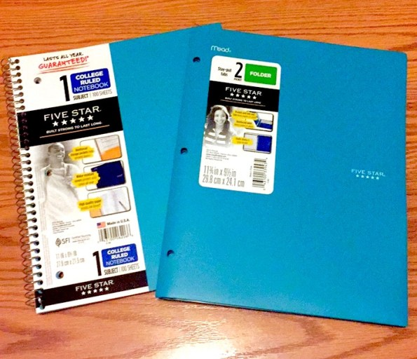 Get Ready for School with Mead FiveStar Matching Folder & Spiral Notebook