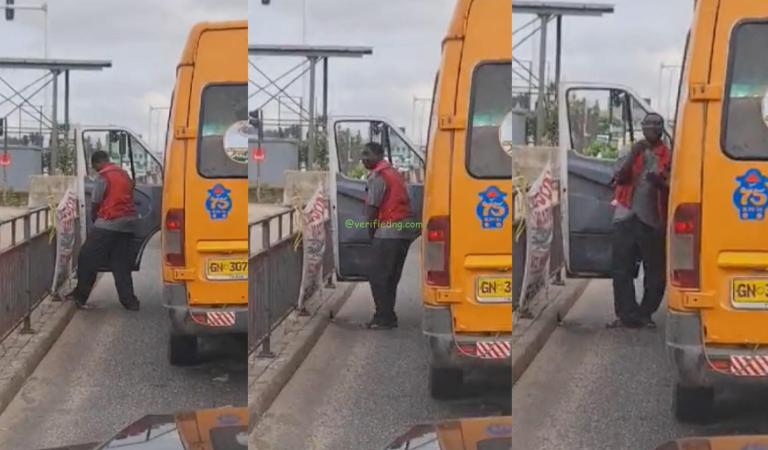"""""""IGP must see this"""" – Reaction to new video of Trotro driver peeing at the side of the Alajo road"""