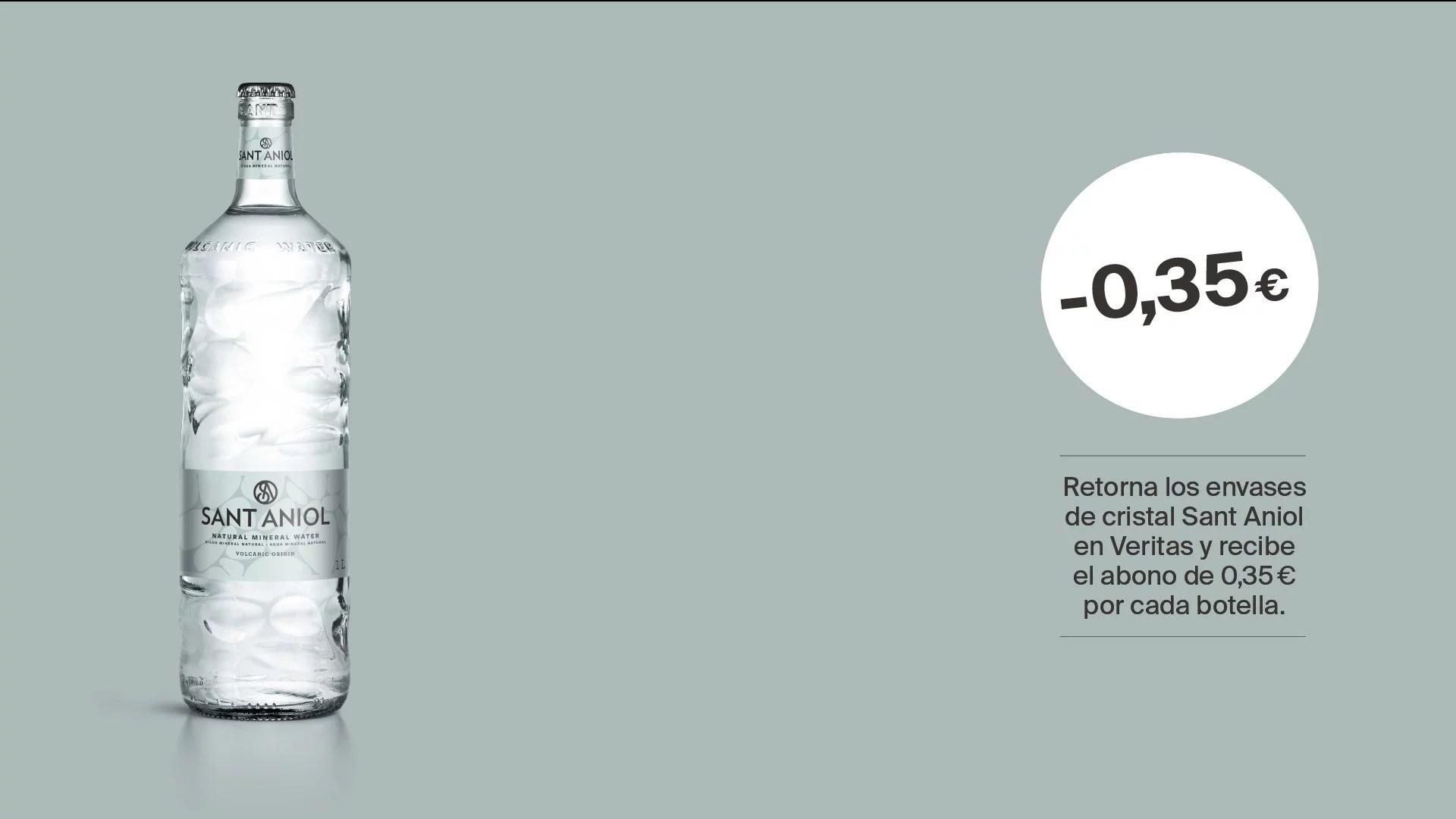Veritas y Sant Aniol unidos en un proyecto de economía circular con envases de cristal retornable