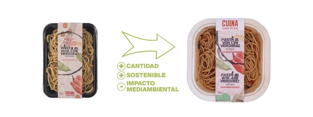 Envases sostenibles de la Cuina Veritas