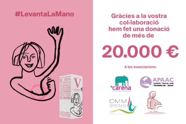 Donem més de 20.000 € a associacions que lluiten contra el càncer de mama - Veritas