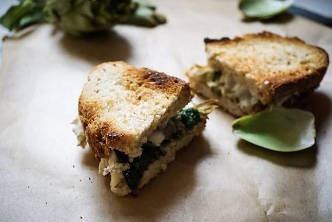 Sandvitx de carxofes i espinacs - Receptes - Veritas