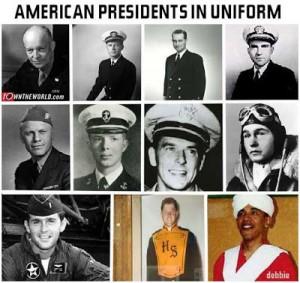 Presidents+in+Uniform