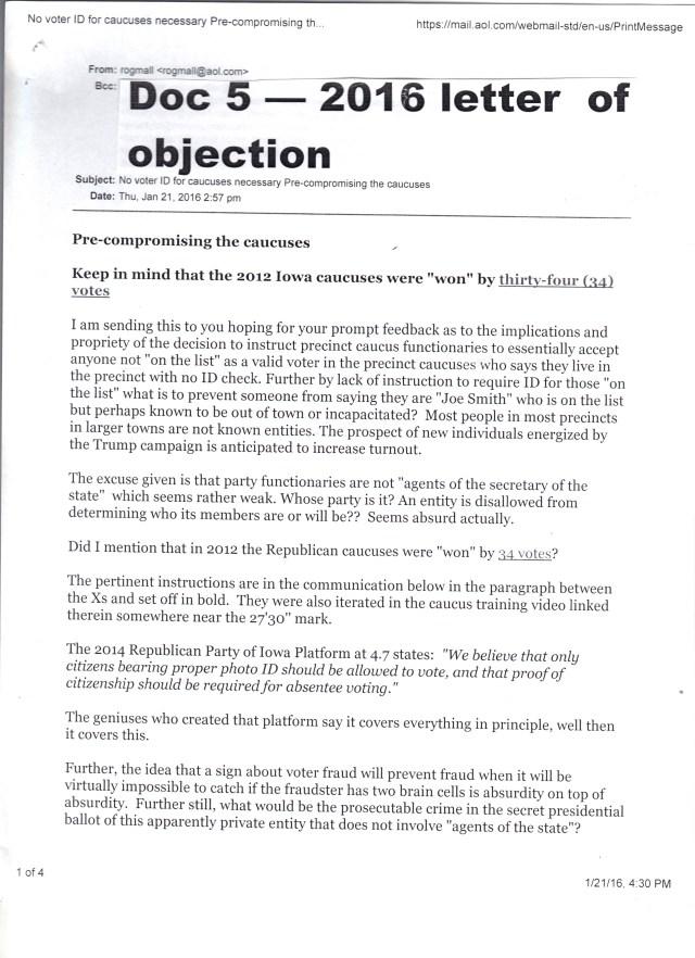 Caucus 2016 comm lettr object doc 5 p1