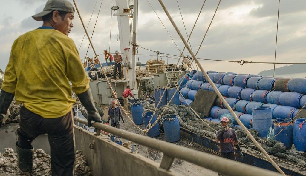 Thai Fishermen on Boat