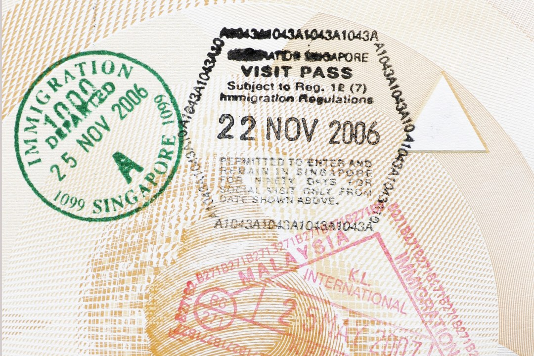 Passport with visa stamps