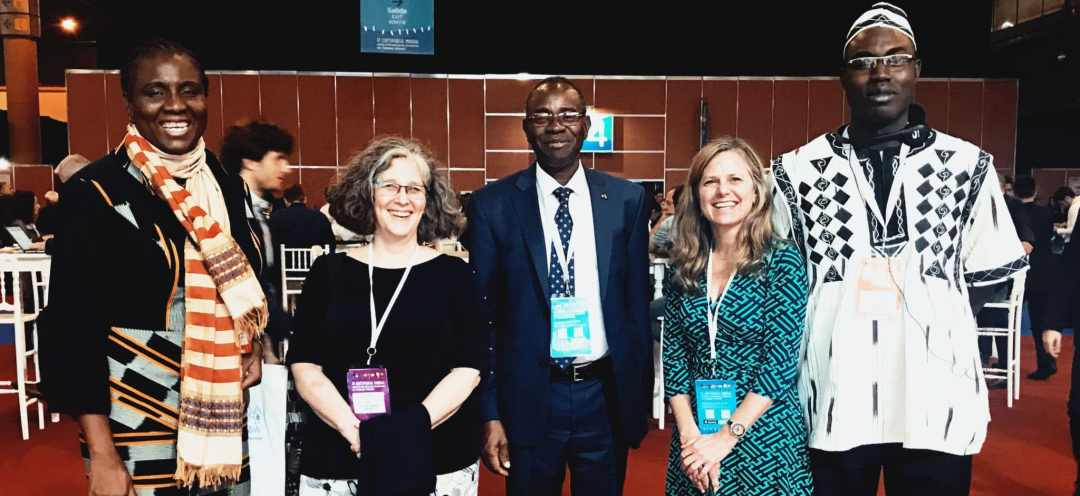 Lisa Cox and Burkina Faso colleagues at CL Conference