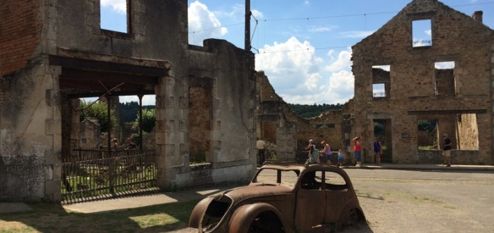 Oradour-sur-Glane - Abandoned Car - Mainland Europe Road Trip Route