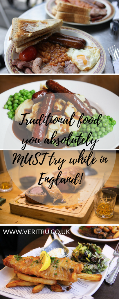 Traditional food you absolutely MUST try while in England; from bangers and mash, bubble and squeak, afternoon tea to toad in the hole.