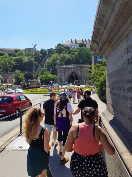 Walking Tour Budapest - The Best Joint Hen/Stag Do in Budapest - Veritru - Turul Statue - Chain Bridge