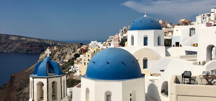 Oia, Santorini, Greece Holiday Video - Iconic Blue Domes