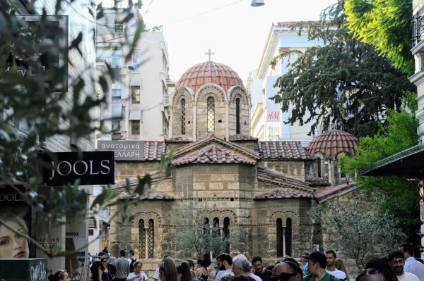 Church of Panaghia Kapnikarea - Athens, Greece, Europe - Honeymoon Part 1 - Athens is a beautiful capital city rich with history. With it's impressive Acropolis and quaint pedestrian streets, we headed here for our Honeymoon Part 1! Veritru Travel Blog
