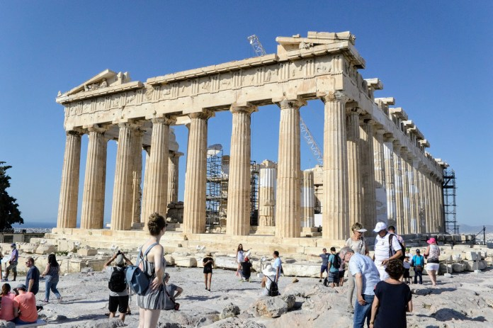 Hekatompedon Temple - Acropolis of Athens - Athens, Greece, Europe - Honeymoon Part 1 - Athens is a beautiful capital city rich with history. With it's impressive Acropolis and quaint pedestrian streets, we headed here for our Honeymoon Part 1! Veritru Travel Blog