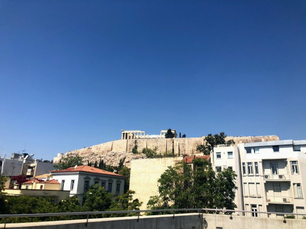 View from the Acropolis Museum - Athens, Greece, Europe - Honeymoon Part 1 - Athens is a beautiful capital city rich with history. With it's impressive Acropolis and quaint pedestrian streets, we headed here for our Honeymoon Part 1! Veritru Travel Blog
