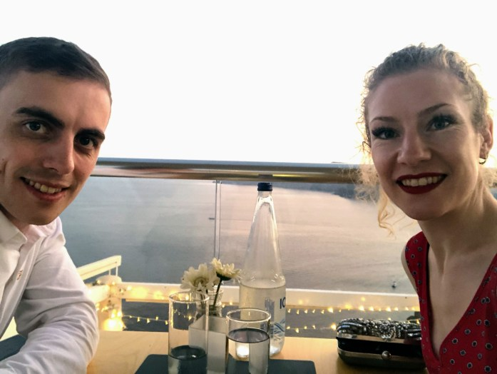 Feredini Restaurant Food and sunset view - Santorini, Greece - Honeymoon Part 2 - Oia in Santorini is beautiful with its pretty caldera view, sunsets, windmills and quaint pedestrian streets, we headed here for our Honeymoon Part 2! - Greek Island, Europe - Veritru