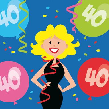 Favoriete Verjaardagswensen 40 jaar ⋆ Leuke en Grappige Verjaardagswensen &RZ73