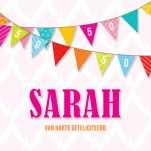Verjaardagswensen 50 jaar Sarah kaartje
