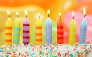 achtergrond kaarsen verjaardagskaart