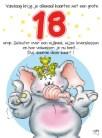 Verjaardagswensen kaartje 18 jaar