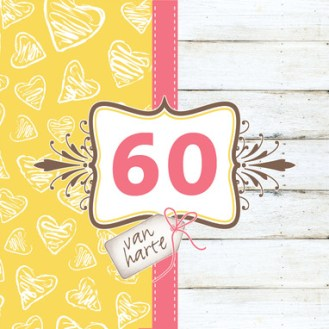 Verjaardagswensen kaartje 60 jaar