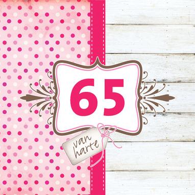 Extreem Verjaardagswensen 65 jaar ⋆ Mooie verjaardagswensen voor een kaartje. &DY33