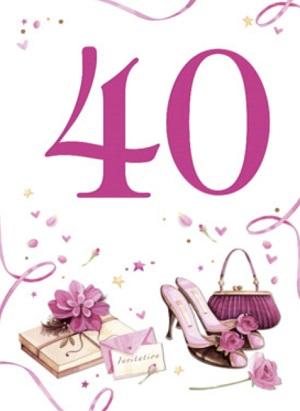 Beste 40 jaar kaartje ⋆ Verjaardagswensen GB-96