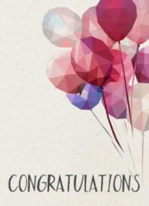 Blondje feliciteren met een kaart