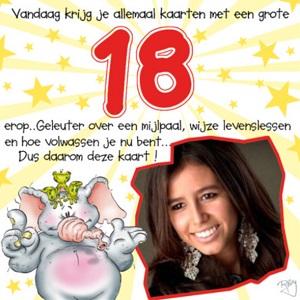 Felicitatie 18 jaar