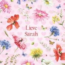 Sarah feliciteren