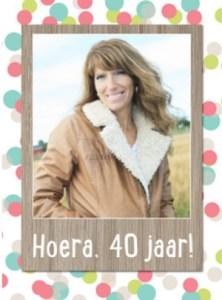Vrouw 40 jaar kaart