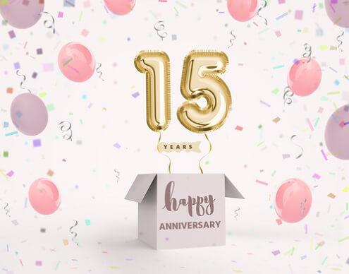 Fonkelnieuw Gefeliciteerd 15 jaar. 15 jaar verjaardagswensen, teksten en meer. TL-06