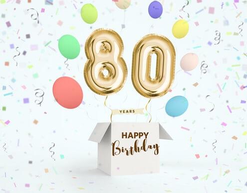 Verwonderlijk Verjaardagswensen 80 jaar. Teksten voor felicitatie verjaardag 80 ZL-09