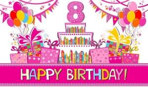 Gefeliciteerd 8 jaar verjaardag