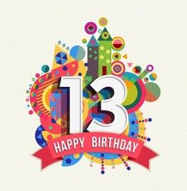 Verjaardag 13 jaar
