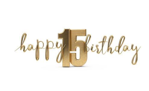 Verbazingwekkend Gefeliciteerd 15 jaar. 15 jaar verjaardagswensen, teksten en meer. MO-53