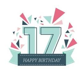 Verjaardag 17 jaar