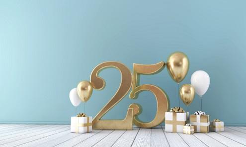 Ongekend Verjaardag 25 jaar ⋆ Verjaardagswensen WM-47