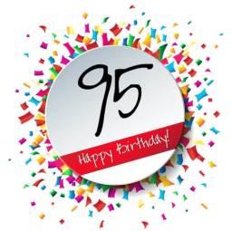 Verjaardag 95 jaar