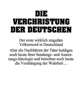 Robert Luft: Die Verchristung der Deutschen