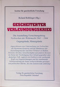 Roland Bohlinger: Gescheiterter Verleumndungskrieg