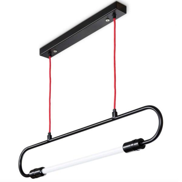 Ebolicht hanglamp Mannheim Hanger kabel rood - Verlichting van Toen