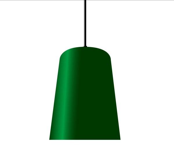 Chimney hanglamp groen - RENDERING - Verlichting van Toen