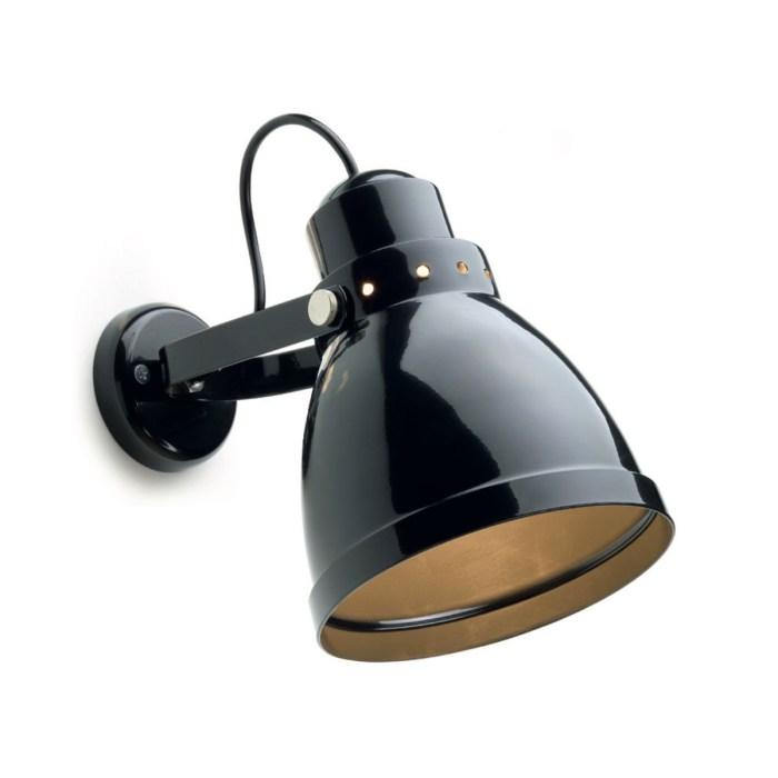 Rotterdam wandlamp RAL 9005 zwart - Verlichting van Toen