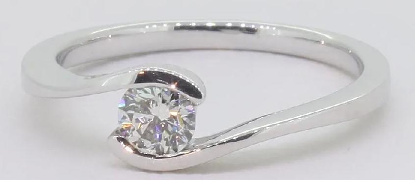 Diamant Verlobungsring 14 Karat Weissgold 0 75 Ct Diamant Ring Der