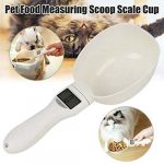 Turbobm Pet Scale Scale Cup for Dog Cat Feeding Bowl Kitchen Scale Spoon Measuring Scoop Cup Portable with LED Display