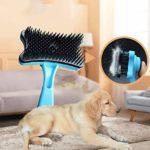 SMX Cat Mur Brosse for Animaux Massage Épilation Brosse Chat Chaton Coin Peigne Délestage Parage Auto Toilettage (Color : Blue)