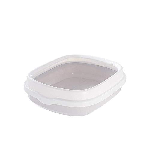 Kyman Litière for Chat Litière Cat Portable Bowl Toilette Bedpan Grand Moyen Taille Chat excrément Formation bac à litière de Sable avec Scoop for Animaux de Compagnie Kitty, Rose, L