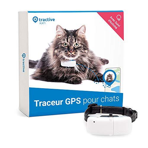 Tractive collier GPS pour chat, Traceur chat avec portée illimitée, Suivi d'activité, Étanche, Léger