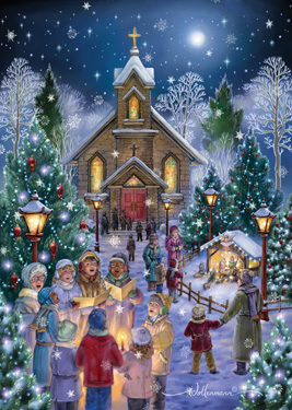 Midnight Mass Christmas Card Religious Amp Inspirational